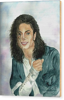 Michael Jackson - Will You Be There Wood Print by Nicole Wang