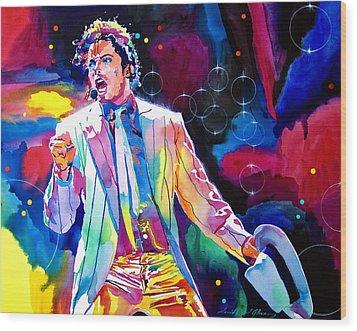 Michael Jackson Smooth Criminal Wood Print by David Lloyd Glover