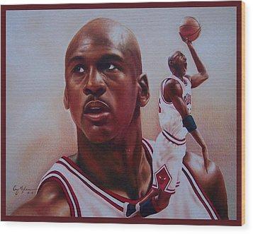 Michael Jordan Wood Print by Cory McKee