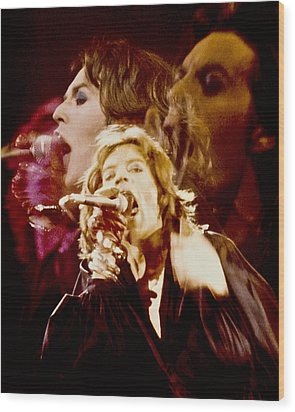 Mick Trio Wood Print by Sandy Ostroff