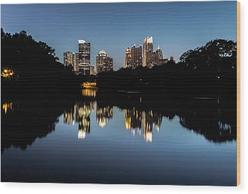 Midtown Skyline Wood Print