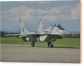 Wood Print featuring the photograph Mikoyan-gurevich Mig-29as by Tim Beach