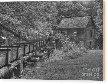 Wood Print featuring the photograph Mingus Mill 3 Mingus Creek Great Smoky Mountains Art by Reid Callaway