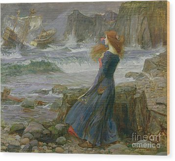 Miranda Wood Print by John William Waterhouse