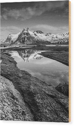 Mirror Wood Print by Alex Conu