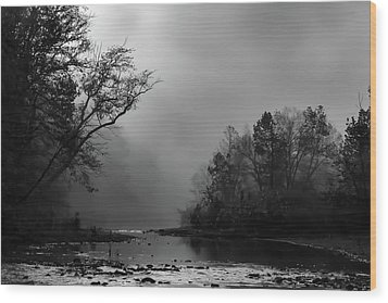 Wood Print featuring the photograph Mist On The River by James Barber