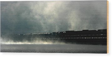 Misty Crossing Wood Print by Marie-Dominique Verdier