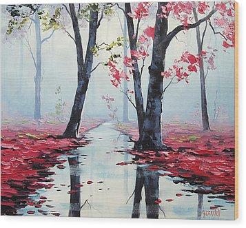 Misty Pink Wood Print by Graham Gercken