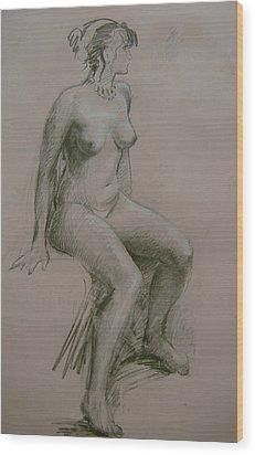 Model Study Wood Print by Tigran Ghulyan