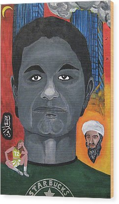 Mohamed Atta Wood Print by Darren Stein