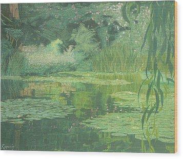 Monet's Lament Wood Print
