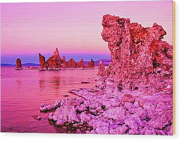 Mono Lake Dawn Wood Print by Dennis Cox