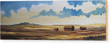 Montana Landscape Wood Print by Kevin Heaney
