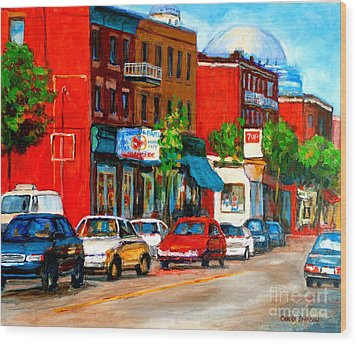 Montreal Paintings Wood Print by Carole Spandau