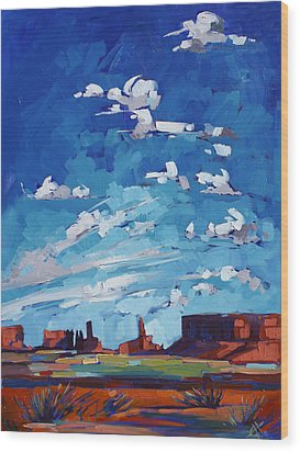 Monument Sky Wood Print by Erin Hanson