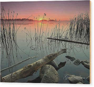 Morning Glow Wood Print by Gregory Israelson