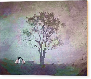 Wood Print featuring the digital art Morning Has Broken by Jean Moore