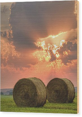 Morning In The Heartland Wood Print by Ron  McGinnis