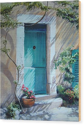 Morning Light In Valbonne Wood Print by Jeanne Rosier Smith
