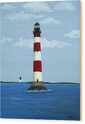 Morris Island Light Wood Print by Frederic Kohli