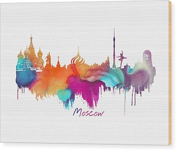 Moscow  Wood Print by Justyna JBJart
