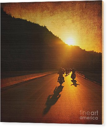 Motorcycle Ride Wood Print