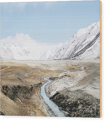 Wood Print featuring the photograph Mount Everest by Setsiri Silapasuwanchai