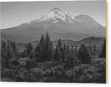 Wood Print featuring the photograph Mount Shasta And Shastina by Frank Wilson