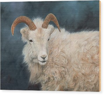 Mountain Goat Wood Print by David Stribbling