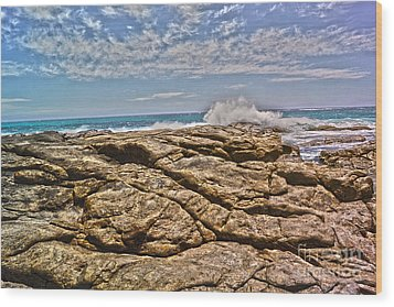 Mouth Of Margaret River Beach II Wood Print by Cassandra Buckley