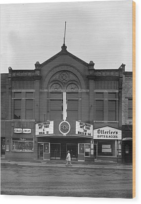 Movie Theaters, The G.f. Andrae Opera Wood Print by Everett