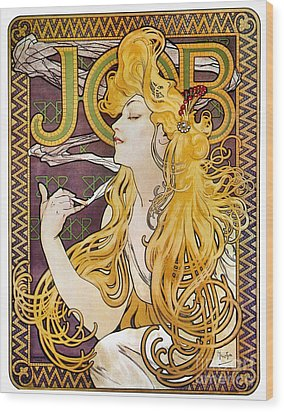 Mucha: Cigarette Papers Wood Print by Granger