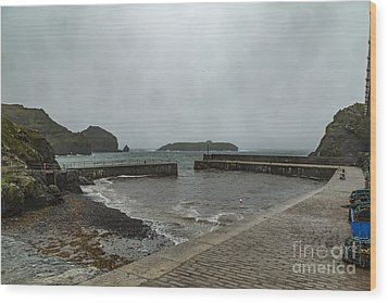 Wood Print featuring the photograph Mullion Cove by Brian Roscorla