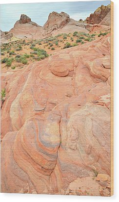 Wood Print featuring the photograph Multicolored Wave In Valley Of Fire by Ray Mathis