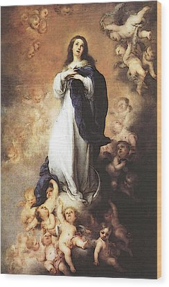 Murillo Immaculate Conception  Wood Print by Bartolome Esteban Murillo