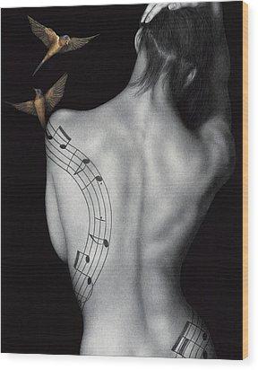 Muse-ic Wood Print