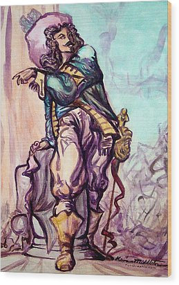 Musketeer Wood Print by Kevin Middleton