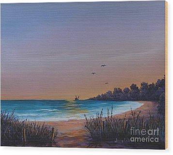 Myrtle Beach Sunset Wood Print by Jerry Walker