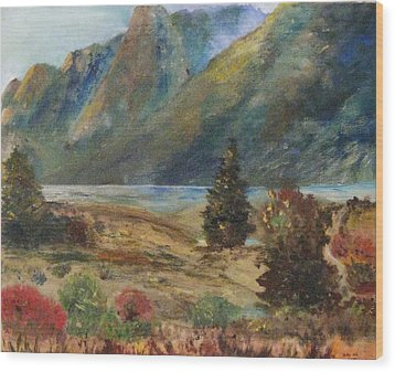 Mysterious Yosemite Valley Wood Print by Trilby Cole