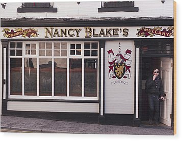 Nancy Blake's Irish Pub Wood Print