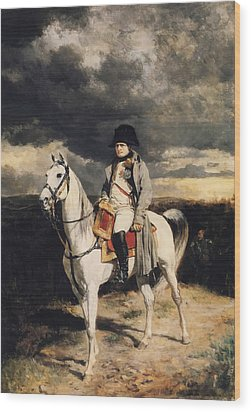 Napoleon Bonaparte On Horseback Wood Print by War Is Hell Store
