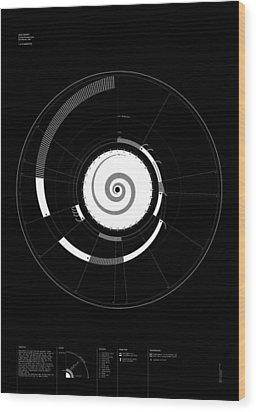 1 Narrative Wood Print by Oddityviz Space Oddity