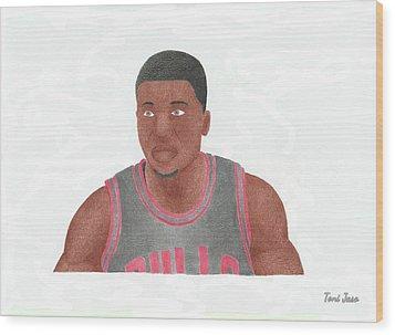 Nate Robinson Wood Print by Toni Jaso