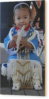 Native American Baby Girl Wood Print