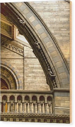 Natural History Museum Kensington  Wood Print