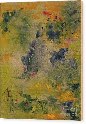 Wood Print featuring the painting Nebula by Karen Fleschler