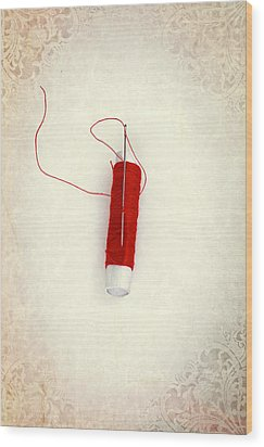 Needle And Thread Wood Print by Joana Kruse