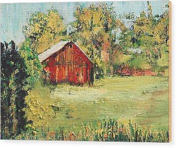 New England Barn Wood Print by Julia S Powell
