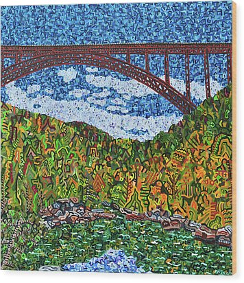 New River Gorge Wood Print by Micah Mullen