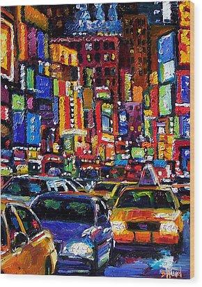 New York City Wood Print by Debra Hurd